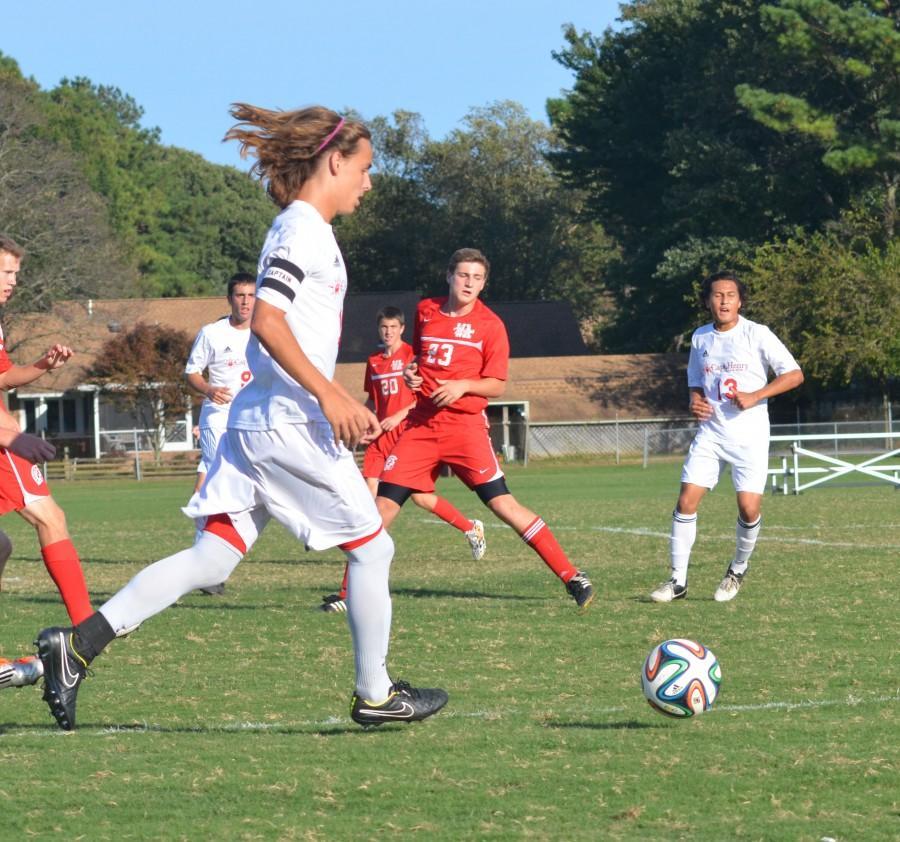 Senior Kaleb Underwood leads the attack against Walsingham.