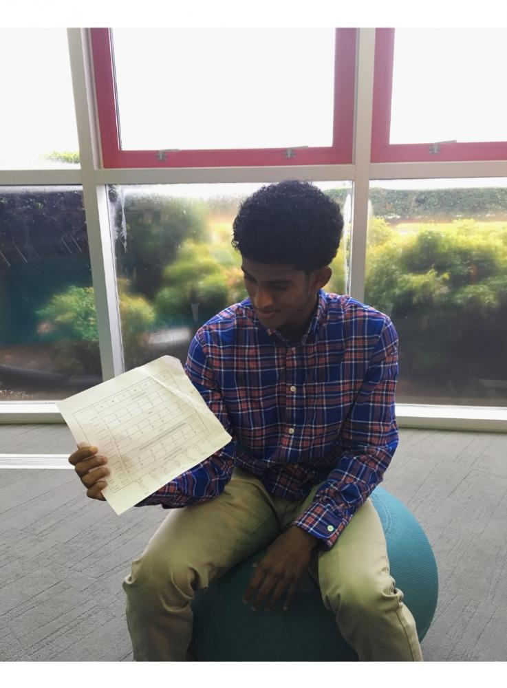 """Honor Council member, Nathaniel Thomas '18, shares how """"the new schedule is the source of too much homework because of our 4 day schedule instead of a 6 day schedule."""" Photo Credit: Alexandra Land"""