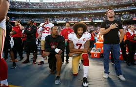 Colin Kaepernick was the man who began this kneeling protest. Photo credit: Michael Zagaris