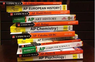 AP books stacked Barrett