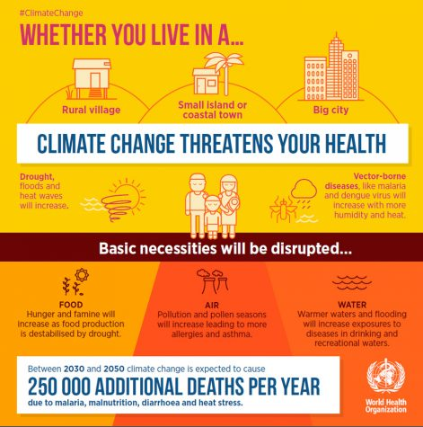Some of the effects of climate change include an increase in not only the number of storms but an increase in their intensities, melting ice caps which are causing sea levels to rise, and factories polluting the air which is harmful to human health. These effects will progress and increase in speed as humans continue to pollute the earth.