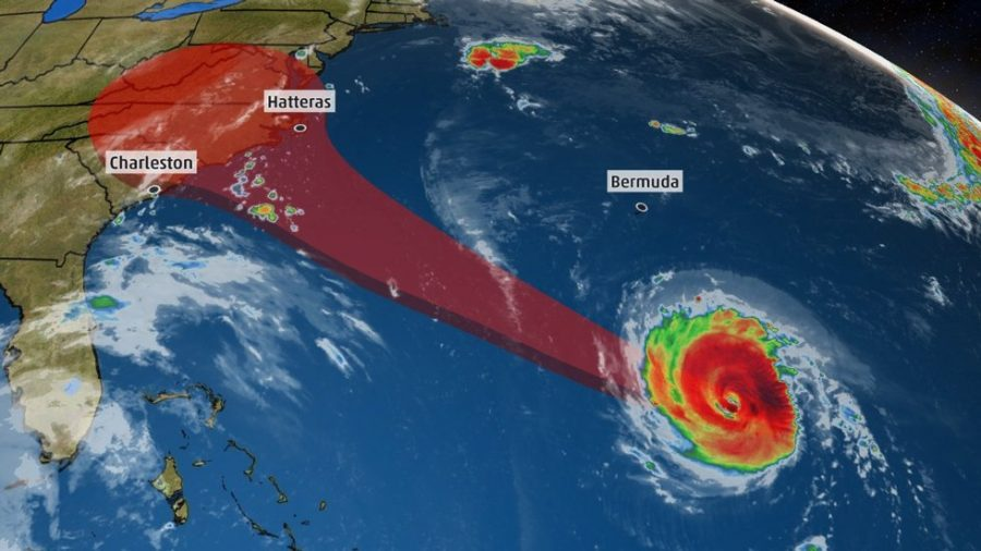 As a Category 4 hurricane, Hurricane Florence was originally predicted to impact Virginia Beach, and Governor Northam ordered mandatory evacuations for all residents in Zone A. As a result, Dr. Garran canceled school since so many teachers and students were impacted by the order.  Photo Credit:  weather.com