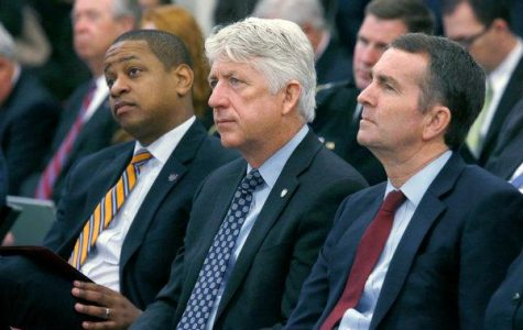 From left, Lt. Gov. Justin Fairfax, Attorney General Mark Herring and Gov. Ralph Northam have each found themselves engulfed in scandals. Credit Bob Brown/Richmond Times-Dispatch, via Associated Press