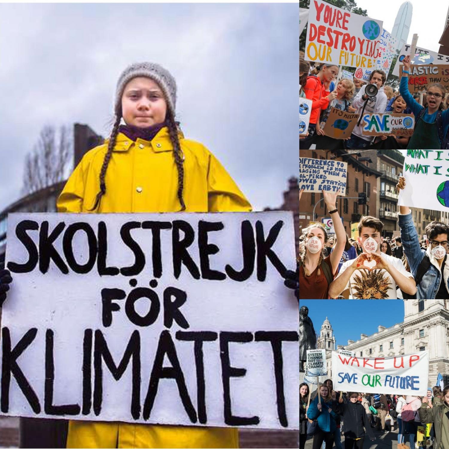 Greta Thunberg and other students around the world skipped school on Friday, March 15th to protest the government's failure to address climate change. Student protesters used signs, megaphones, face masks, and more to get their point across to government officials and the media that they want change and will no longer allow the earth and its atmosphere to be disregarded.