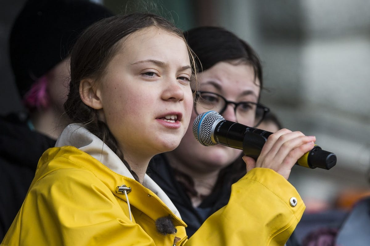 Greta Thunberg is a young activist, whose focus is on the power of youth and the effects of climate change. Photo Credit:  Getty Images