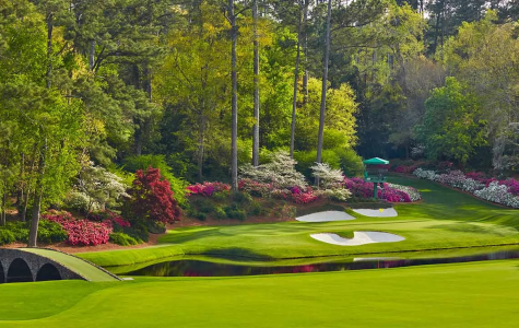 Caption: The famous 12th hole at Augusta National  Photo credit: Paul Severn